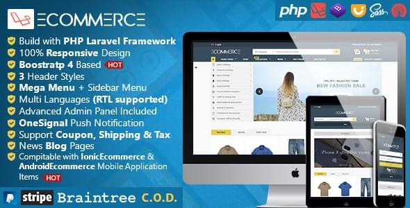 اسکریپت سایت فروشگاه ساز Laravel Ecommerce - Universal Ecommerce/Store