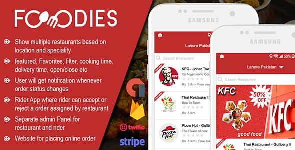 Restaurant Food Delivery & Ordering System With Delivery Boy - Android